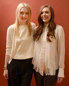 Dakota Fanning and Elizabeth Olsen at an event for Very Good Girls (2013)