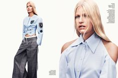 Louise Parker shot by Jason Kibbler | Vogue Espana | February 2014 | Trench Topic