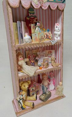Dollhouse Miniature Nursery or Shop Filled Toy by UniqueMiniatures