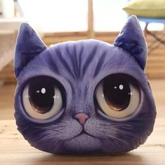 Removable  Cartoon Big Eyes Cathead Shape 3D Sponge Padding Pillow