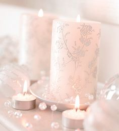 soft pink glow of candlelight ♥
