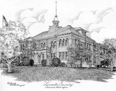 Lincoln                                            County - Davenport, Washington Washington Court House, Washington State, Lincoln, Louvre, Houses, Journal, Drawing, Country, Architecture