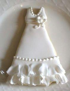 Gorgeous Wedding Dress Cookie!