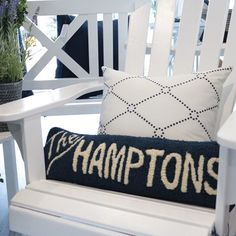 Our 'The Hamptons' Hooked Cushions are made in the US exclusively for us? Designed by you won't find anything like it in Australia 🙌⁣⠀ . Les Hamptons, Hamptons House, East Hampton, Hampton Style, Nantucket Island, New Farm, New Theme, Summer Beach, Nautical