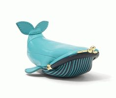 Happy Hump Day…from the super fun Fossil Whale Coin Pouch! Leather Accessories, Fashion Accessories, Leather Craft, Leather Bag, Fossil, Novelty Bags, Unique Bags, Leather Working, Fashion Bags