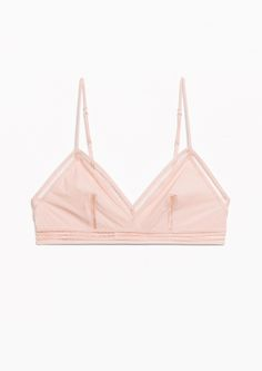 & Other Stories image 1 of Peach Soft Bra in Pink
