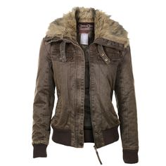 Cripple Creek Women's Aviator Zip-Up Jacket