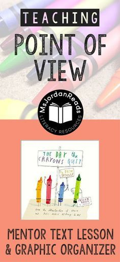 Exploring Perspective and Point of View | A blog post from /MsJordanReads/ sharing a lesson & free resources to go along with The Day the Crayons Quit
