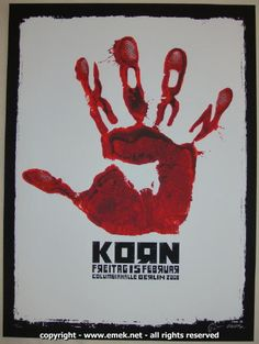 2008 Korn - Berlin Silkscreen Concert Poster by Emek