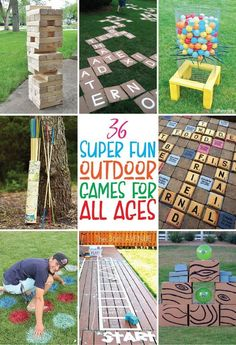 The best outdoor games you can DIY or buy! Tons of great giant yard games, outdo… The best outdoor games you can DIY or buy! Tons of great giant yard games, outdoor party games, and even just classic outdoor games for kids! Giant Outdoor Games, Giant Yard Games, Outdoor Yard Games, Outdoor Games For Kids, Games For Teens, Backyard Games, Outdoor Fun, Outdoor Toys, Yard Games For Kids