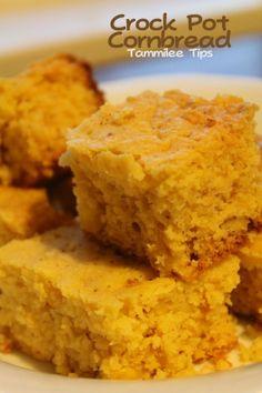 Crock Pot Cornbread #Recipe #Food #Dinner