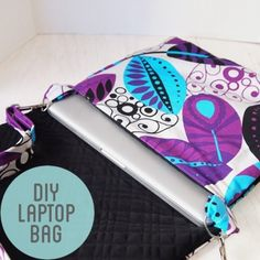 Sew a Tailor-Made Laptop Bag - Free Sewing Tutorial by Meagan of Craft Habit