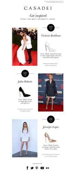 #newsletter Casadei 05.2014 A-Lister Look: Who Wore What