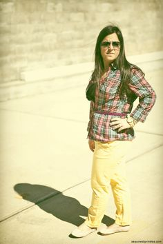 A pair of Gap shoes & a Gap belt, as featured on the blog Sequined Sprinkles.
