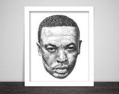Scribbled Dr. Dre  Hip Hop poster by ScribbleZone on Etsy