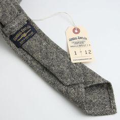 Lambswool Hopsacking Necktie - vintage ties handmade in the United States