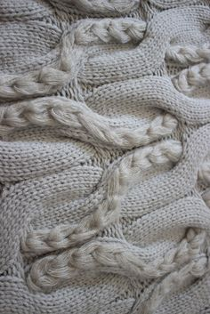 Chunky braided knit detail with interlocking pattern & contrasting textures; knitwear; textiles for fashion // Genuine People