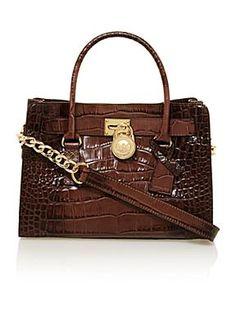 Michael Michael Kors Hamilton Brown Cross Body Bag, Brown £330.