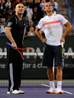 Andre Agassi, Rafael Nadal - my two favorite players!
