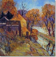 Fern Isabel Coppedge Pennsylvania Impressionist Painter  ~ pretty sure this is Bucks County