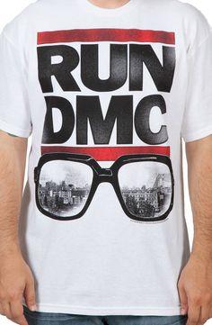 RUN DMC Glasses Shirt Run Dmc, Cool Things To Buy, Stuff To Buy, Running, Glasses, Baby Things, Mens Tops, T Shirt, Clothes