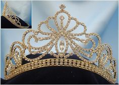 Miss Beauty Pageant Queen Bridal Rhinestone Gold Crown Tiara – RoyaltyCrowns
