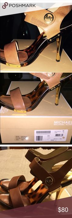 HP 3/22/17MICHAEL KORS SANDALSHP 5/18/16 Super cute sandals. Lucite bottoms. Velcro snap closures. Worn twice only. Had to create new listing because I cancelled the first order Michael Kors Shoes Sandals
