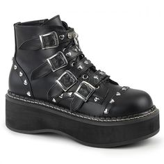 92b44ed968f Demonia Women Platform Lace-up Front Buckle Strap Ankle Boot     Wonderful  of your presence to drop by to visit our picture.