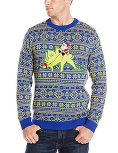 The Men's Ugly Christmas T-Rex Sweater is all about changing the ...