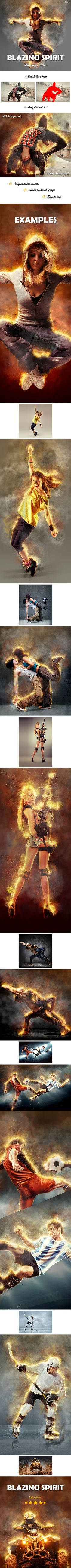 Blazing Spirit - Fire Photoshop Action #photoeffect Download: http://graphicriver.net/item/blazing-spirit-fire-photoshop-action/13448466?ref=ksioks