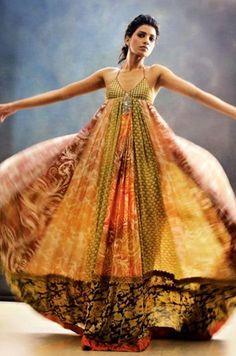 Soma Sengupta Indian Fashion- Ethereal Swirl!