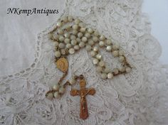 1920's shell rosary Mother of pearl