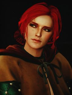The Witcher Wild Hunt - Triss Merigold Triss Merigold Witcher 3, Witcher 3 Wild Hunt, The Witcher 3, Elf Characters, Fantasy Characters, Triss Cosplay, Beautiful Redhead, Me As A Girlfriend, Games