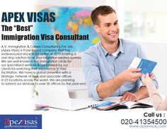 A.V. Immigration & Career Consultancy Pvt. Ltd. (Apex Visas) is Pune based company that has endeavoured since its inception in 2010 to bring a one stop solution to all your migration related queries.