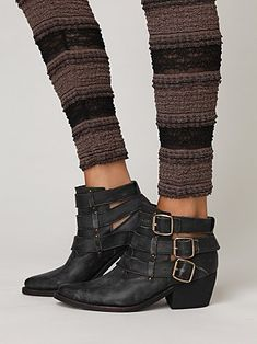 Buckle Back Ankle Boot. Free People.