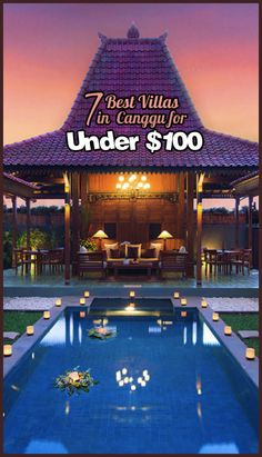 Shortlist of the best villas in Bali for under $100. Click to find the perfect spot for your holiday.