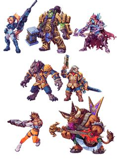 "art by daniel ""abysswolf"" oliver - Blizzard Characters Make Awesome 2D Sprites"