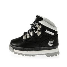 TIMBERLAND EURO HIKER TD TODDLER 96802 Black Waterproof Boots Shoes Baby Size 12