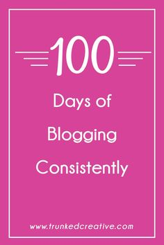 How blogging every day for 100 days helped me become a better, more effective communicator, and taught me other valuable lessons in my business. Plus a gameplan to help you blog for 100 days straight! From http://trunkedcreative.com