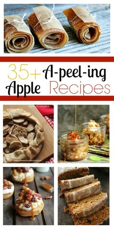 35+ A-Peel-ing Apple Recipes found at www.chocolatechocolateandmore.com