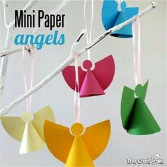 Best Christmas crafts ideas, Christmas art ideas for kids, and adults.Fun to make handmade Christmas gifts, ornaments and decorations. Simple DIY crafts and art projects Paper Christmas Ornaments, Christmas Arts And Crafts, Christmas Activities For Kids, Handmade Christmas Gifts, Christmas Nativity, Christmas Angels, Kids Christmas, Holiday Crafts, Angel Ornaments