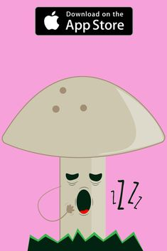 Our mushroom is feeling sleepy! Get the complete Sticker Pack today and share it with your friends.