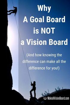 It's a popular misconception that a goal board and vision board are the same thing, but that's so wrong! Both are valuable tools, but to get results with your goal setting, you have to choose the right one for the right job. Goal Board, Setting Goals, Goal Settings, Creating A Vision Board, Money Affirmations, Law Of Attraction Tips, Business Goals, Better Life, Self Improvement