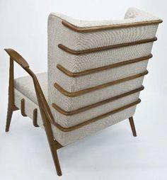 Giuseppe Scapinelli; Jacaranda Frame Armchair, 1960s.