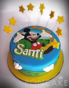 Mickey Mouse Cake - Torta de Mickey Mouse