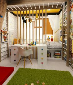 Small Kids Room - Small Children Bedroom Ideas Designing a Kids Room for your Child is a very involving and important task. Get Inspiration and Ideas for your Small Kids Room Interior Design. Kids Room Design, Room Interior Design, Interior Livingroom, Nursery Design, Small Rooms, Small Apartments, Small Beds, Trendy Bedroom, Kids Bedroom