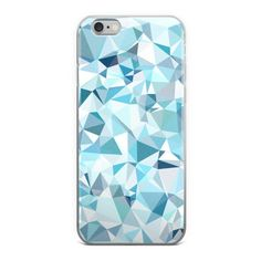 Geometric Abstract Light Blue iPhone Case