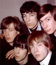British Rock Group 'The Rolling Stones' pose for a publicity photo in London, England circa Clockwise from left: Mick Jagger, Bill Wyman, Charlie Watts, Brian Jones and Keith Richards. The Rolling Stones, Brian Jones Rolling Stones, Rock N Roll, Rock And Roll Bands, Rock Bands, Mick Jagger, Keith Richards, Rollin Stones, Charlie Watts