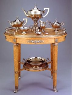 Faberge tea table.  Beautiful
