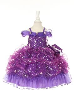 purple infant pageant dress WANT!!! For Lyla. Possibly in the blue..
